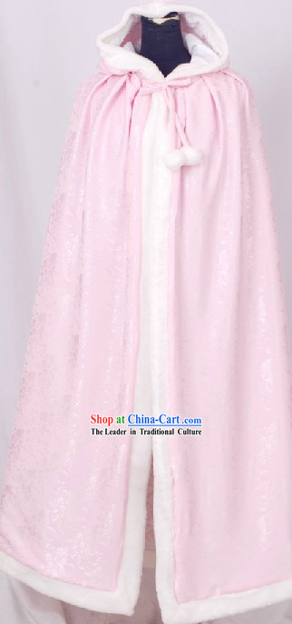 Ancient Chinese Pink Princess Cape for Women