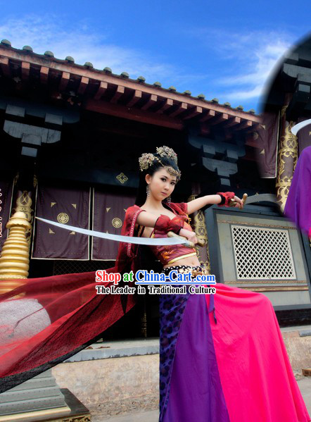 Ancient Chinese Film Swordswoman Costume