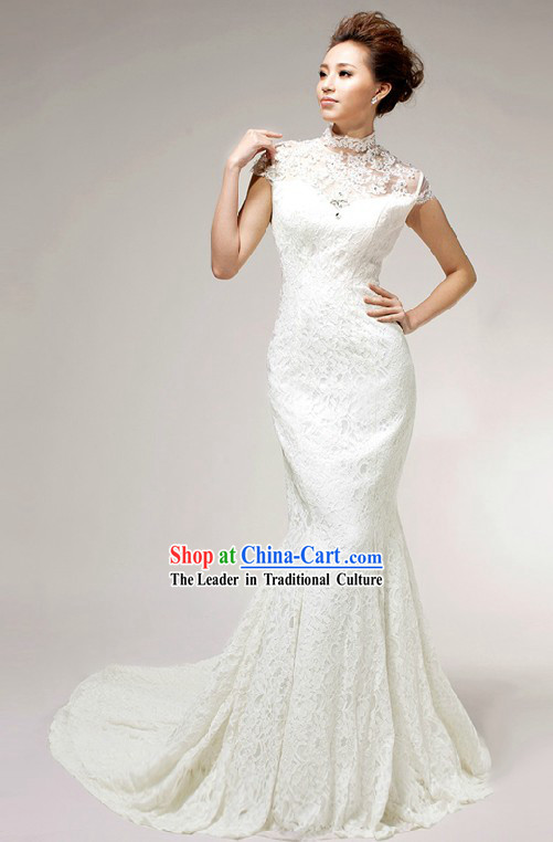 Supreme Mandarin Cheongsam Style Wedding Dress