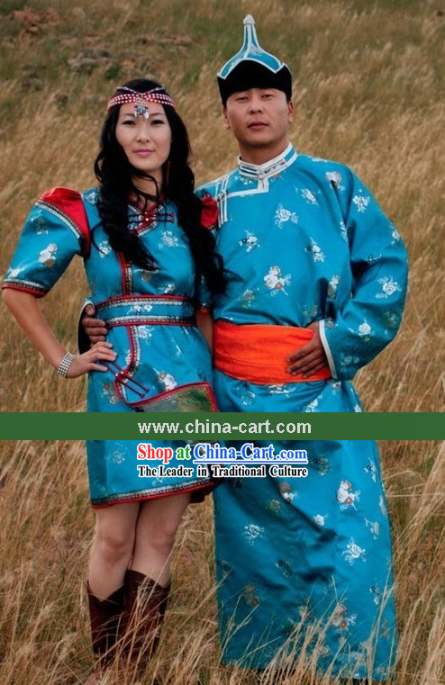 ec4f6a90611 Traditional Chinese Mongolian Clothing and Hat for Men and Women