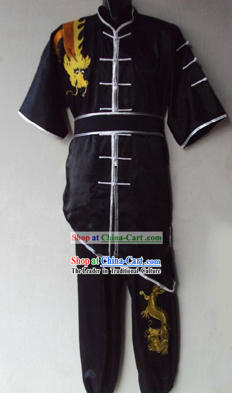 Traditional Shaolin Kung Fu Black Dragon Uniform for Men