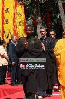 Traditional Shaolin Kung Fu Black Long Robe