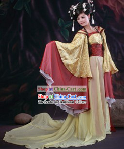 Ancient Chinese Wide Sleeve Princess Costumes