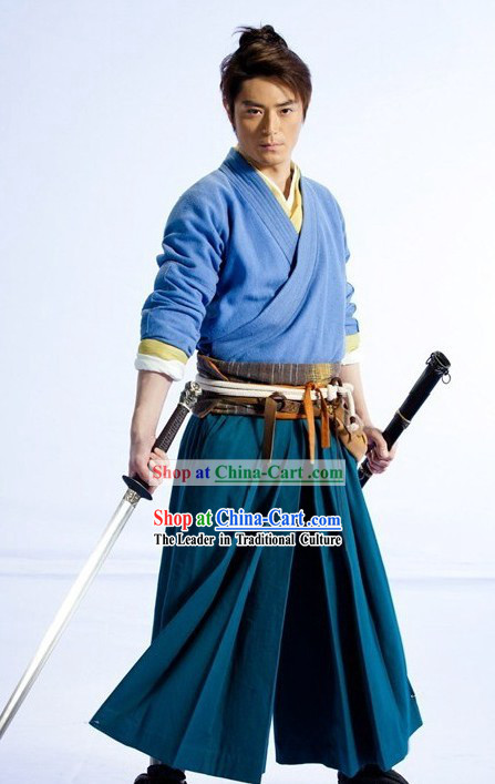 The Legendary Swordsman Ling Huchong Costumes Complete Set for Men