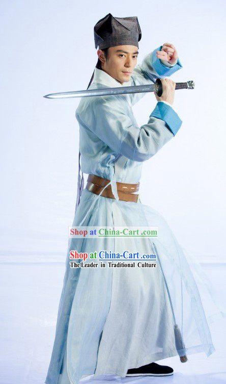 Ancient Chinese Legendary Swordsman Lin Huchong Clothes and Hat