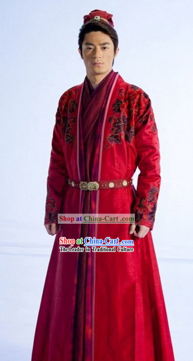 Ancient Chinese Swordsman Wedding Dress for Men