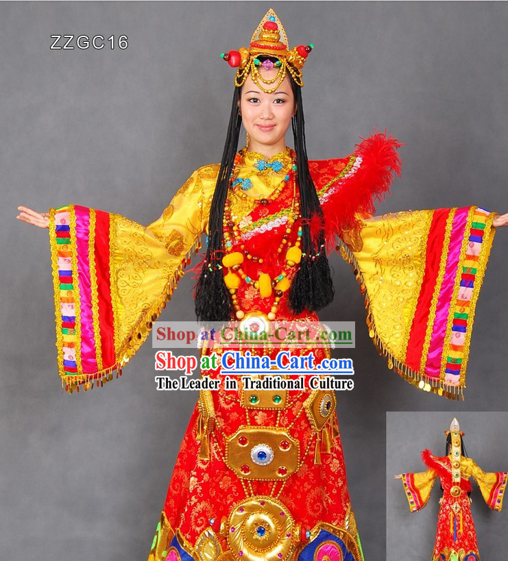 Chinese Tibetan Clothing and Hair Accessories for Women