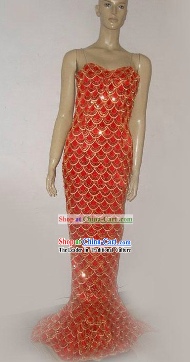 Chinese Mermaid Dance Costumes for Women