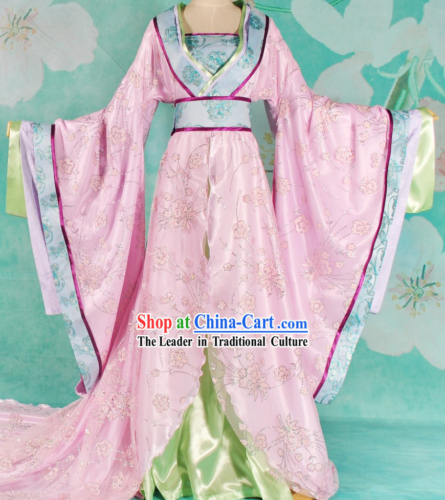 Ancient Chinese Imperial Palace Princess Long Tail Clothing for Women