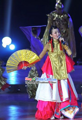 Traditional Chinese Stage Performance Costumes for Women