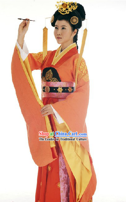 Ancient Chinese Female Prime Minister Costumes and Headpiece for Women