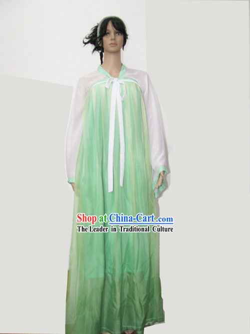 Ancient Chinese Light Green Tea Ceremony Costume for Women