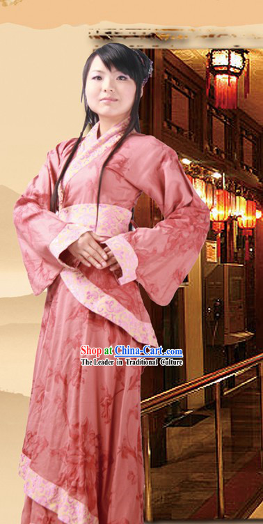 Ancient Chinese Tea Ceremony Hanfu Clothing for Women