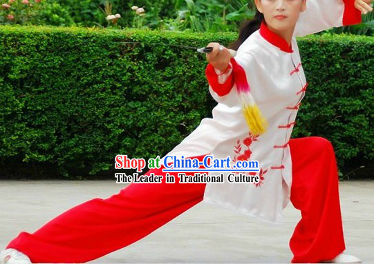 Traditional Kung Fu Competition Silk Uniform for Women