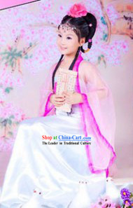 Ancient Chinese Stage Performance Guzhuang Costume for Kids