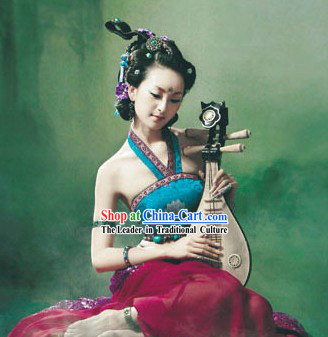 Ancient Chinese Stage Performance Feitian Guzhuang Costume for Women