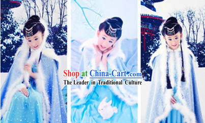 Ancient Chinese Winter Cape and Inside Clothes for Kids