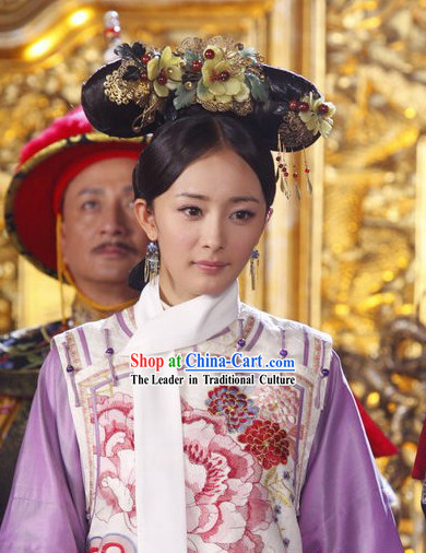 Chinese Qing Dynasty Palace Princess Costume for Women