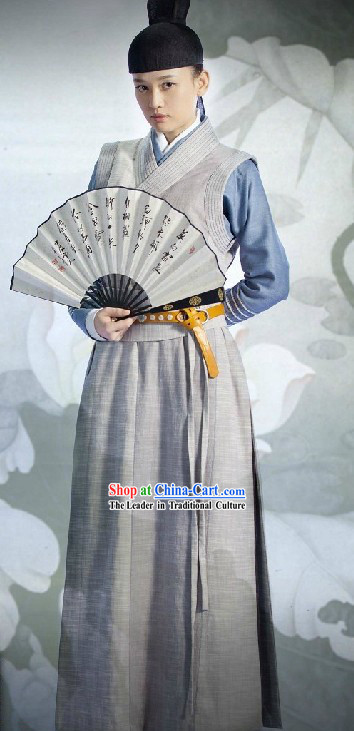 Ancient Chinese Invincible Eastern Costumes and Hat for Men