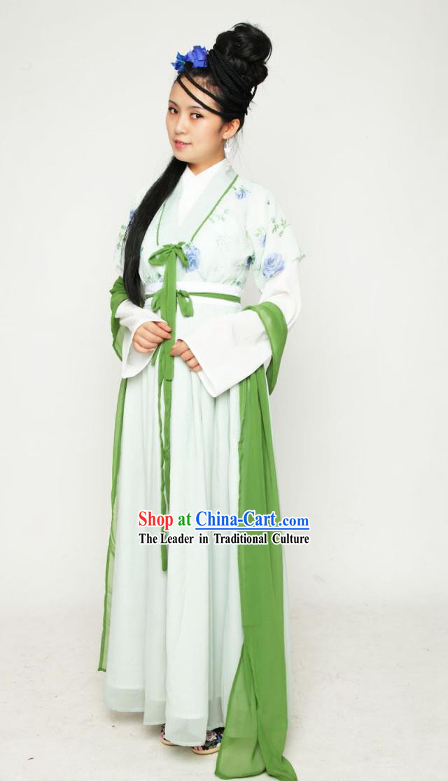 Ancient Chinese Han Dynasty Clothing Complete Set for Women