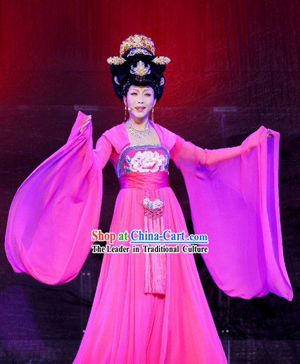 Ancient Chinese Tang Dynasty Palace Ribbon Dance Costumes