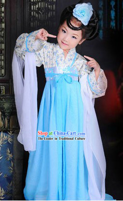 Ancient Chinese Tang Dynasty Lady Costume for Kids