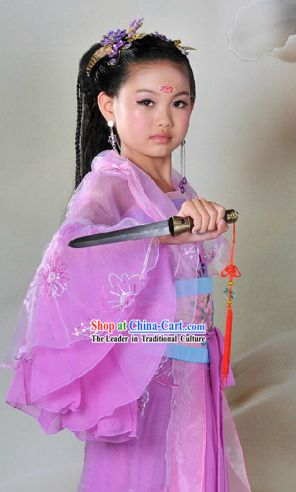 Ancient Chinese Hanfu Fairy Costumes for Children