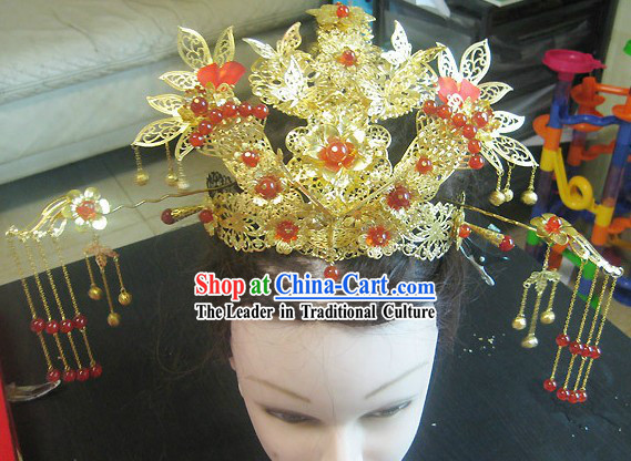 Ancient Chinese Wedding Phoenix Hair Accessories and Hairpins