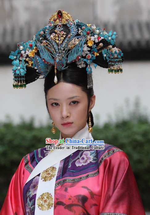 Qing Dynasty Palace Empress Handmade Phoenix Crown