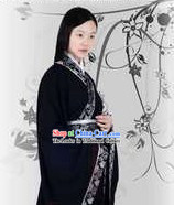Han Dynasty Black Ceremonial Clothes for Ladies