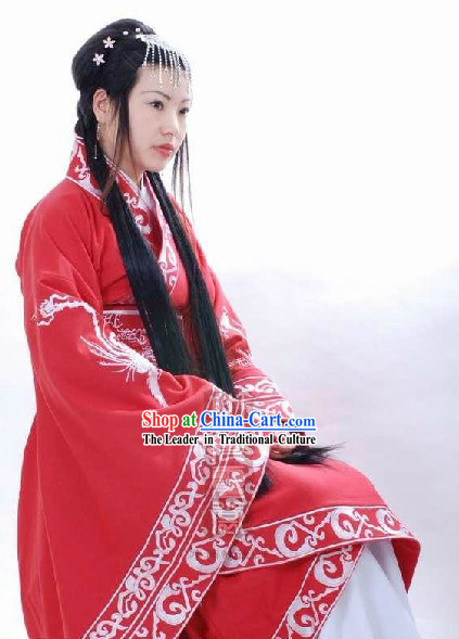 Ancient Chinese Han Dynasty Style Phoenix Empress Clothing for Women