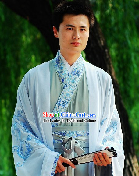 Han Dynasty Dragon Clothing for Men