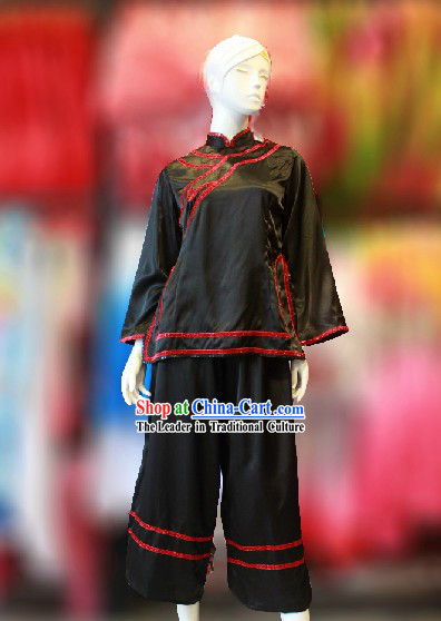 Traditional Chinese Black Dance Costumes for Women