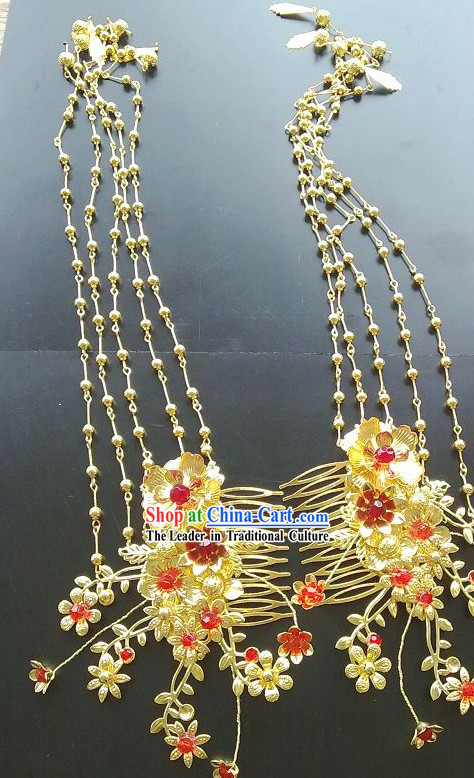 Ancient Chinese Style Handmade Hairpin with Long Tassels