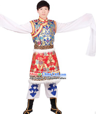 Chinese Classical Tibetan Dance Clothing for Men