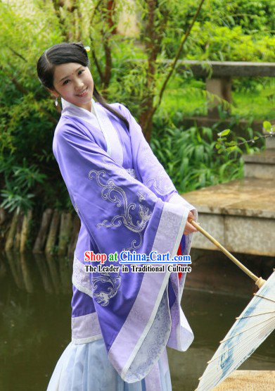 Ancient Chinese Purple Princess Phoenix Costumes for Ladies