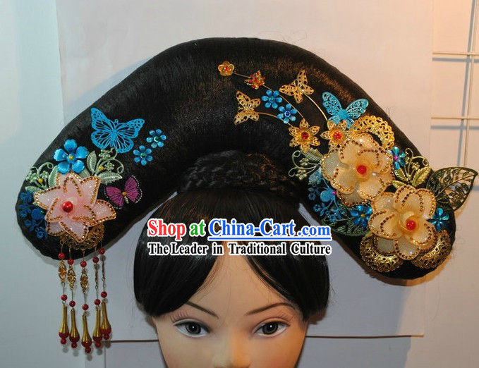 Qing Dynasty Princess Wig and Headpiece for Women