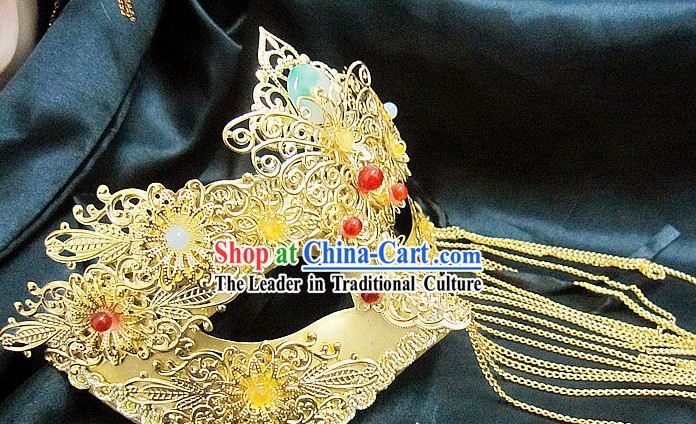 Handmade Chinese Stage Performance Classic Mysterious Mask