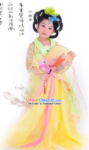 Ancient Chinese Tang Dynasty Princess Costumes for Girls