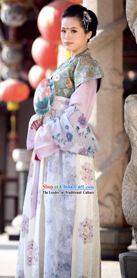 Chinese Classical Tang Dynasty Princess Dress Complete Set