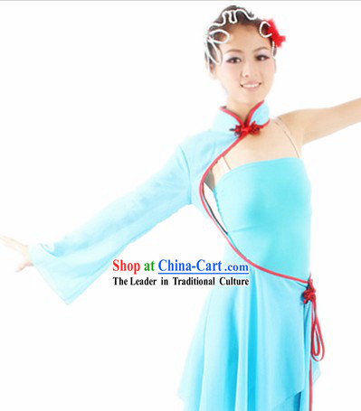 Traditional Chinese Solo Dance Costumes and Headwear for Women