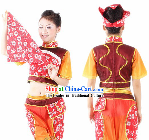 Traditional Chinese Han Ethnic Dance Costumes for Women