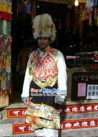 Traditional Chinese Classical Tibetan Male Clothes and Hat
