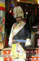 Traditional Chinese Classical Tibetan Male Clothing and Hat