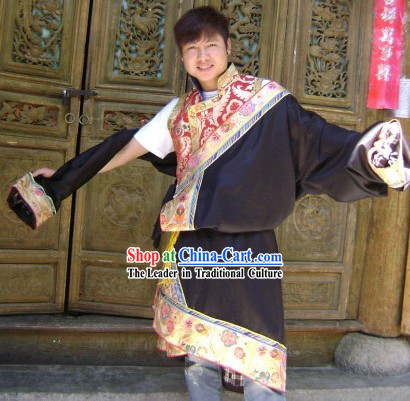 Traditional Chinese Tibetan Male Outfit