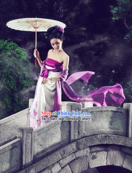 Tang Dynasty Female Clothing and Umbrella