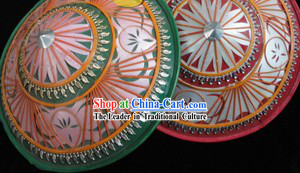 Green Stage Performance Chinese Dai Ethnic Hat