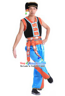 Traditional Chinese Minority Costume and Accessories for Men