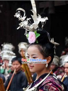 Traditional Chinese Miao Hair Accessories for Women