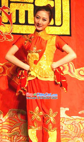 Traditional Chinese Handkerchief Dance Costumes for Women